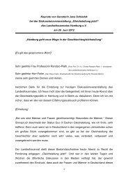 Keynote von Senatorin Jana Schiedek bei der ...