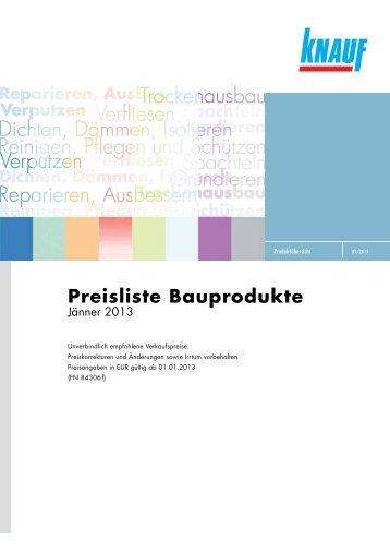 Knauf_Bauprodukte_Preisliste_Jaenner2013