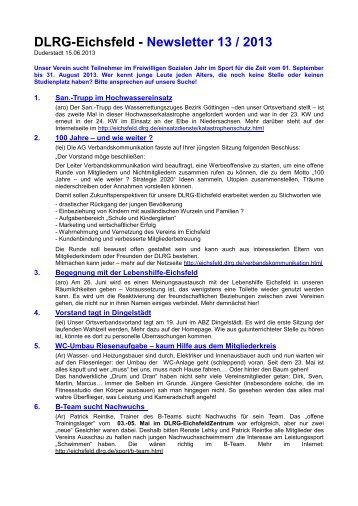 Newsletter 13-2013 - DLRG Eichsfeld e.V.
