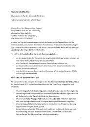 Haushaltsrede 28.2.2013 CDU Fraktion im Rat der Gemeinde ...
