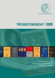 TÄTIGKEITSbErIchT | 2009 - Max-Planck-Institut für ausländisches ...