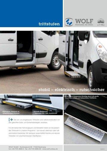 trittstufen stabil – elektrisch – rutschsicher - wolf-umbau.de