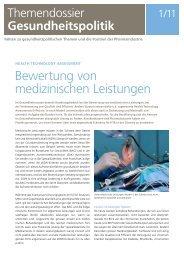 Bewertung von medizinischen Leistungen - Interpharma