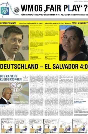 – DEUTSCHLAND EL SALVADOR 4:0 - Attac Frankfurt am Main