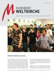 Nr. 16 - Mai 2008 - Arbeitsstelle Weltkirche