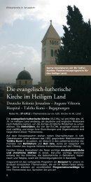 Die evangelisch-lutherische Kirche im Heiligen Land - ITERU
