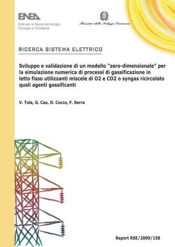 """Sviluppo e validazione di un modello """"zero-dimensionale ... - Enea"""