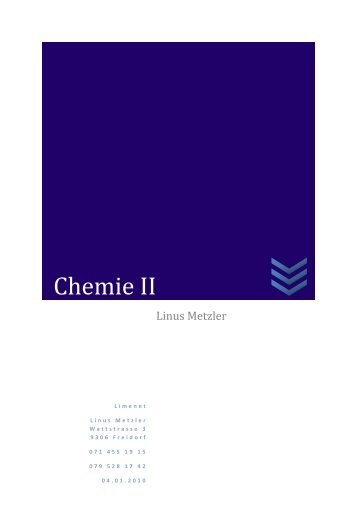 Chemie II - limenet.ch