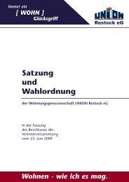 Satzung und Wahlordnung - WG Union