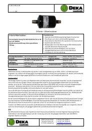 Datenblatt - DEKA Controls