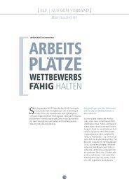 WETTBEWERBS FAHIG HALTEN - Südwestmetall