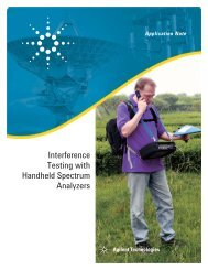 Interference Testing with Handheld Spectrum Analyzers - Agilent ...