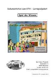 Dokumentation zum KTH — Lernspielpaket: Spiel des Wissens
