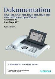 Kurzanleitung OpenStage 40 HiPath 2000/3000/OpenOffice