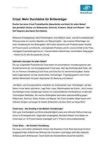 25d8a4c1333 Crizal  Mehr Durchblick für Brillenträger - Essilor GmbH