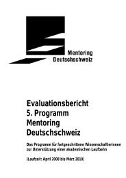 Programm 5 - Mentoring Deutschschweiz