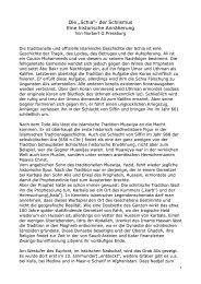"""Die """"Schia"""" - Das neue Bild des Islam Forschung und Fakten"""
