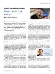 Wenn Lärm krank macht - Schweizerische Tinnitus-Liga