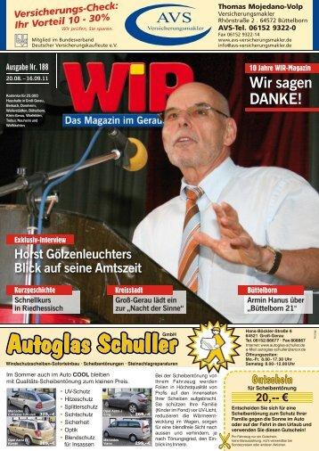 7,- Sakko:ab 39 - Das WIR-Magazin im Gerauer Land