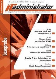 Leseprobe als PDF-Datei - IT-Administrator