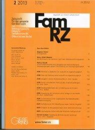 Zeitschrift fü r das gesa mte Familienrecht H 2512 www.famrz.de