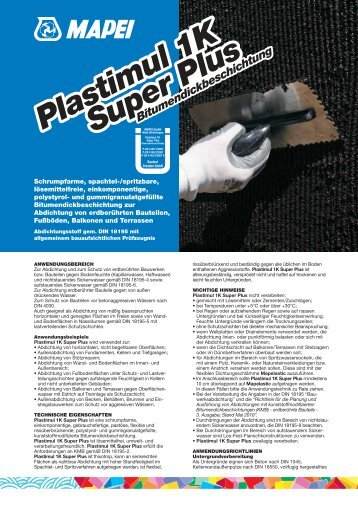 Plastimul 1K Super Plus - Mapei