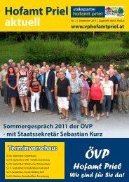 Hofamt Priel aktuell - Hofamt Prieler - Volkspartei Niederösterreich