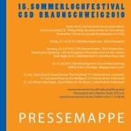 PRESSEMAPPE 2010Kontakt - CSD Braunschweig