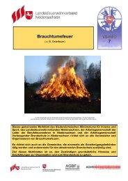 7 Brauchtumsfeuer - Landesfeuerwehrverband Niedersachsen