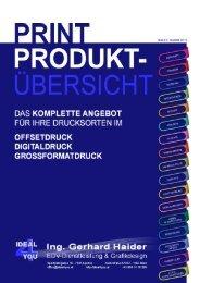 Printproduktübersicht - Ideal 4 You