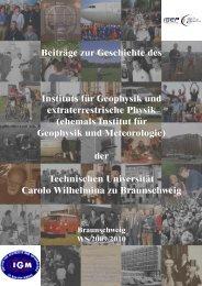 Beiträge zur Geschichte des Instituts für Geophysik und ...