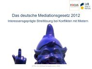Prof. Dr. Winfried Schwatlo, Das deutsche Mediationsgesetz 2012