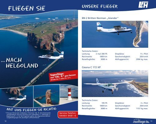 FLUGPLAN - Luftverkehr Friesland Harle