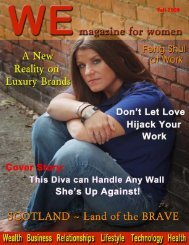Fall 2009 - WE magazine for women