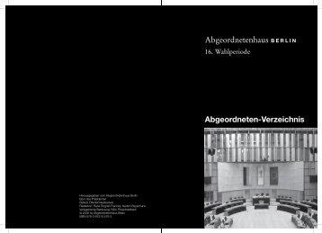 Umschlag 1..2 - Abgeordnetenhaus von Berlin