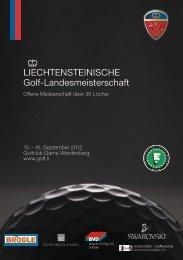 Liechtensteinische Golf-Landesmeisterschaft - Golfclub Gams ...