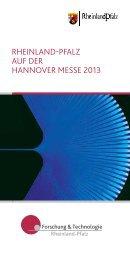 RHEINLAND-PFALZ AUF DER HANNovER MEssE 2013