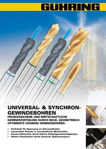 UNIVERSAL- & SYNCHRON- GEWINDEBOHREN