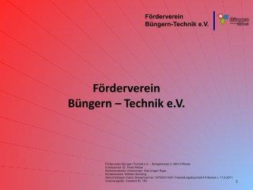 Förderverein Büngern-Technik ev