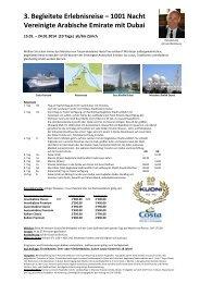 1001 Nacht Vereinigte Arabische Emirate mit Dubai