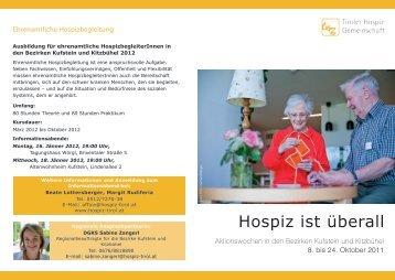 Ehrenamtliche Hospizbegleitung - Pflegeheim St. Johann in Tirol