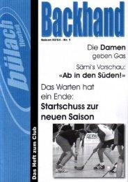 Editorial - Bülach Floorball