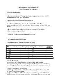 Anleitung zur Erstellung eines Lernplans