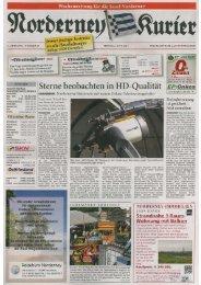 Norderney Kurier 07.06.2013 - Chronik der Insel Norderney