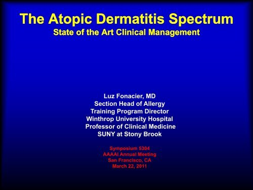 AD Treatment - Fonacier AAAAI 2011.pdf - AInotes