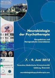 7. - 9. Juni 2013 - Neurobiologie der Psychotherapie