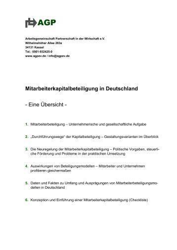 Mitarbeiterkapitalbeteiligung in Deutschland - Personalwirtschaft