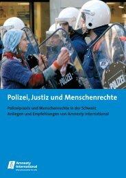 Polizeipraxis und Menschenrecht in der Schweiz