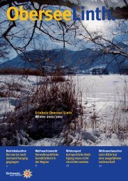 OberseeLinth. Erlebnis Obersee/Linth Winter 2010/2011