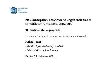 Ashok Kaul - Berliner Steuergespräche eV